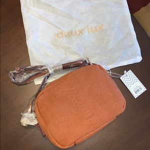 Deux Lux Beautiful Camera Bag in Cognac